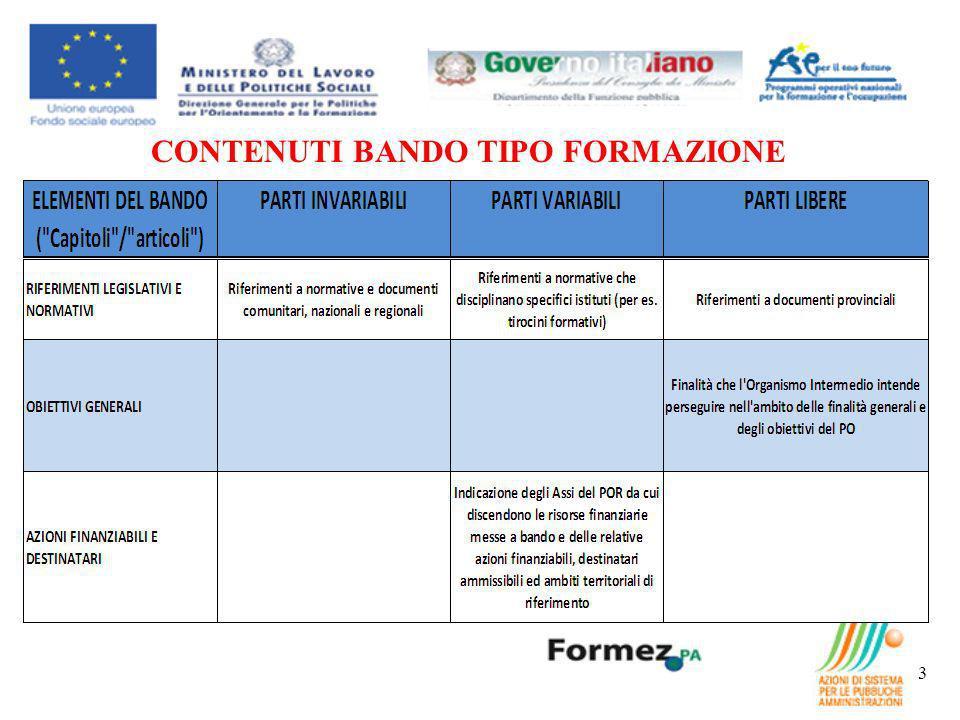 CONTENUTI BANDO TIPO FORMAZIONE 3