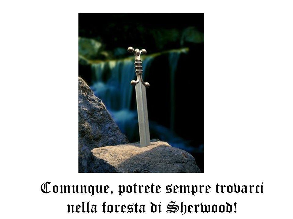 Comunque, potrete sempre trovarci nella foresta di Sherwood!