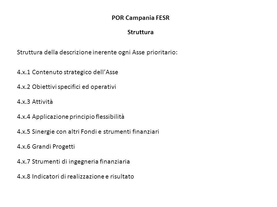 POR Campania FESR Struttura 5.