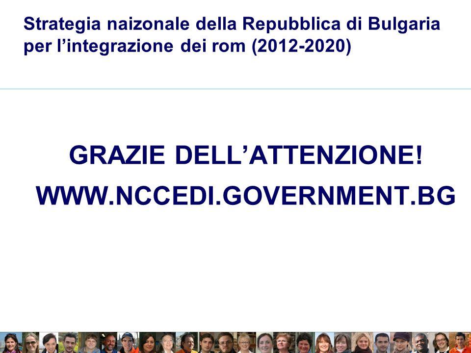 Strategia naizonale della Repubblica di Bulgaria per lintegrazione dei rom (2012-2020) GRAZIE DELLATTENZIONE.
