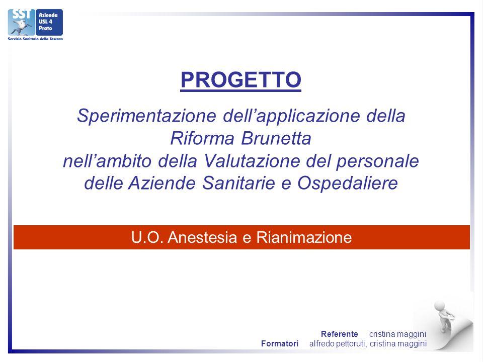 PROGETTO Sperimentazione dellapplicazione della Riforma Brunetta nellambito della Valutazione del personale delle Aziende Sanitarie e Ospedaliere U.O.