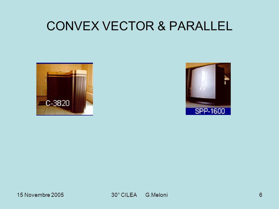 15 Novembre 200530° CILEA G.Meloni6 CONVEX VECTOR & PARALLEL