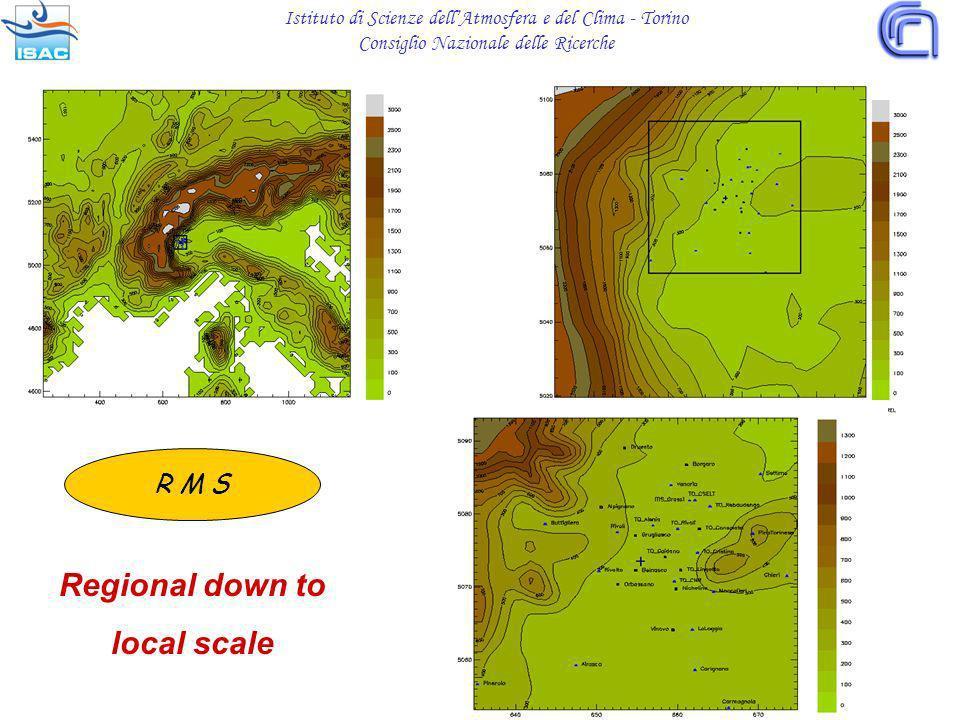 Regional down to local scale R M S Istituto di Scienze dellAtmosfera e del Clima - Torino Consiglio Nazionale delle Ricerche