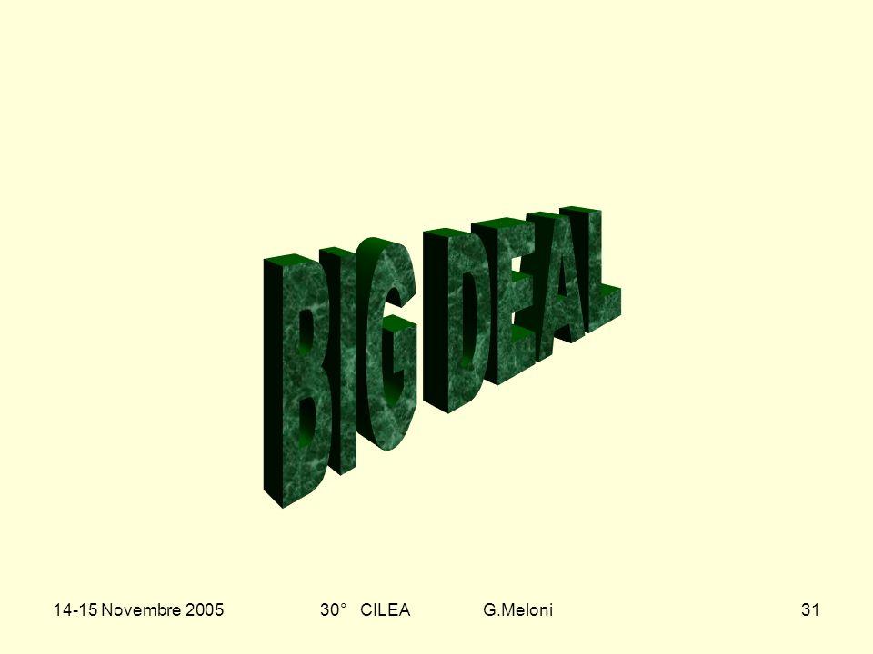 14-15 Novembre 200530° CILEA G.Meloni31
