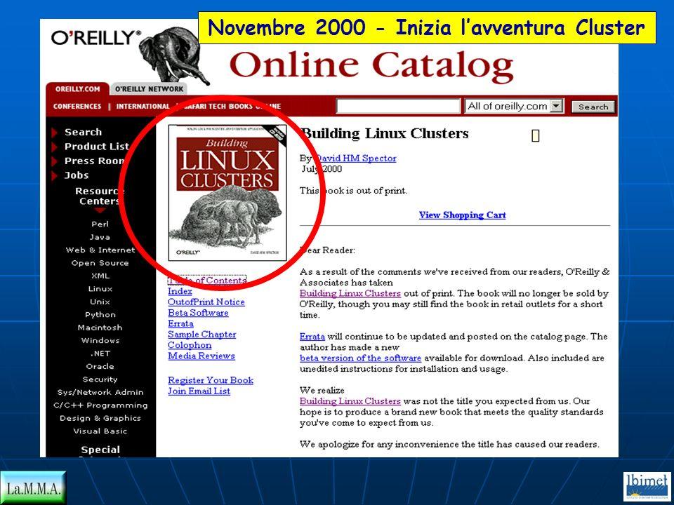 Novembre 2000 - Inizia lavventura Cluster