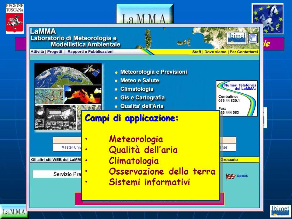 Progetto Regione Toscana - Unione Europea Contratto FERS (U.E.) reg. 2081/93 Attuale gestione: Istituto di Biometeorologia IBIMET - CNR LEGGE REGIONAL