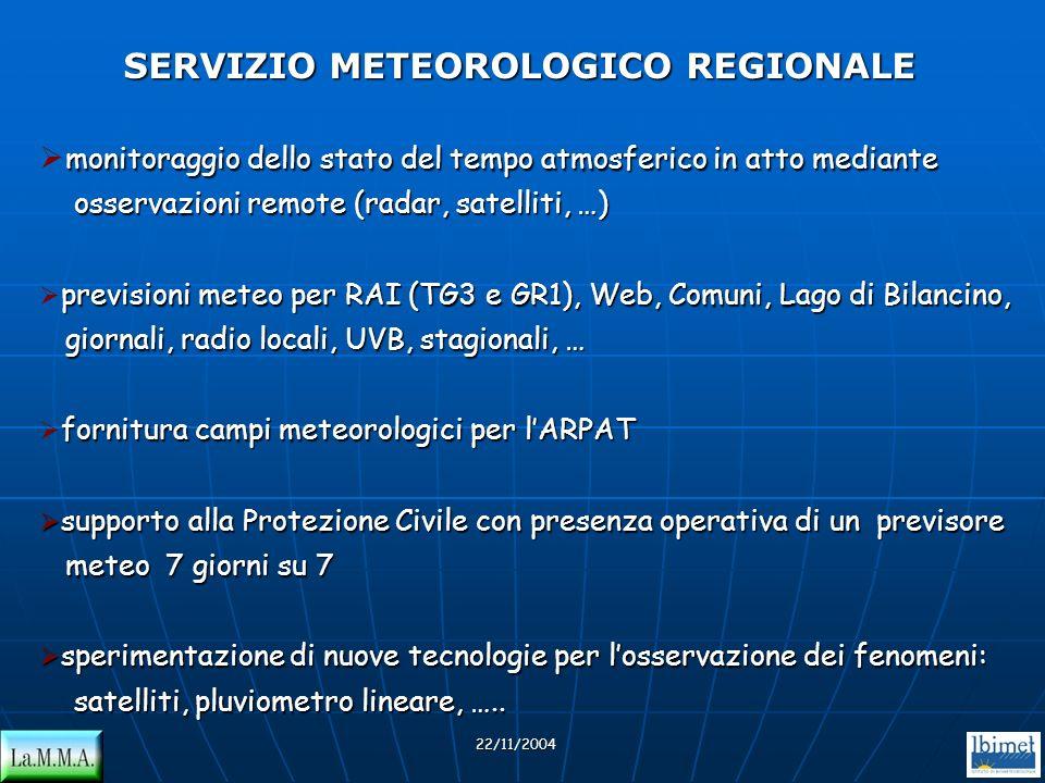monitoraggio dello stato del tempo atmosferico in atto mediante osservazioni remote (radar, satelliti, …) osservazioni remote (radar, satelliti, …) pr