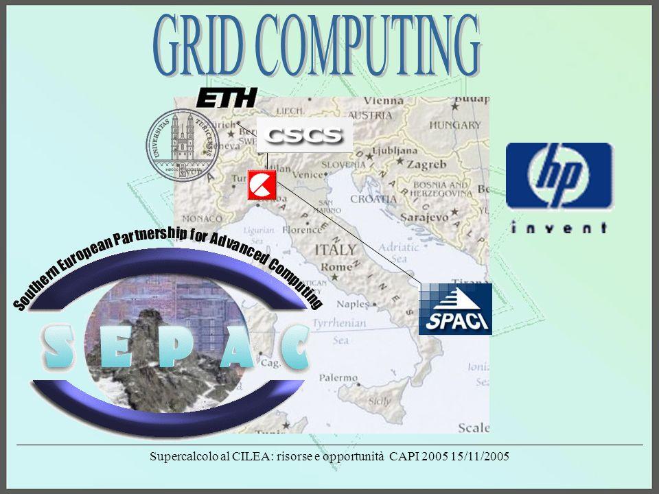 Supercalcolo al CILEA: risorse e opportunità CAPI 2005 15/11/2005