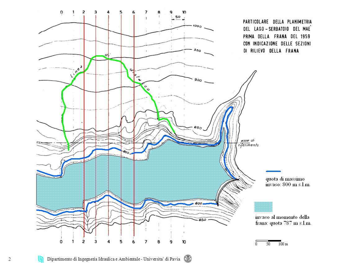 Dipartimento di Ingegneria Idraulica e Ambientale - Universita di Pavia 33 simulazione