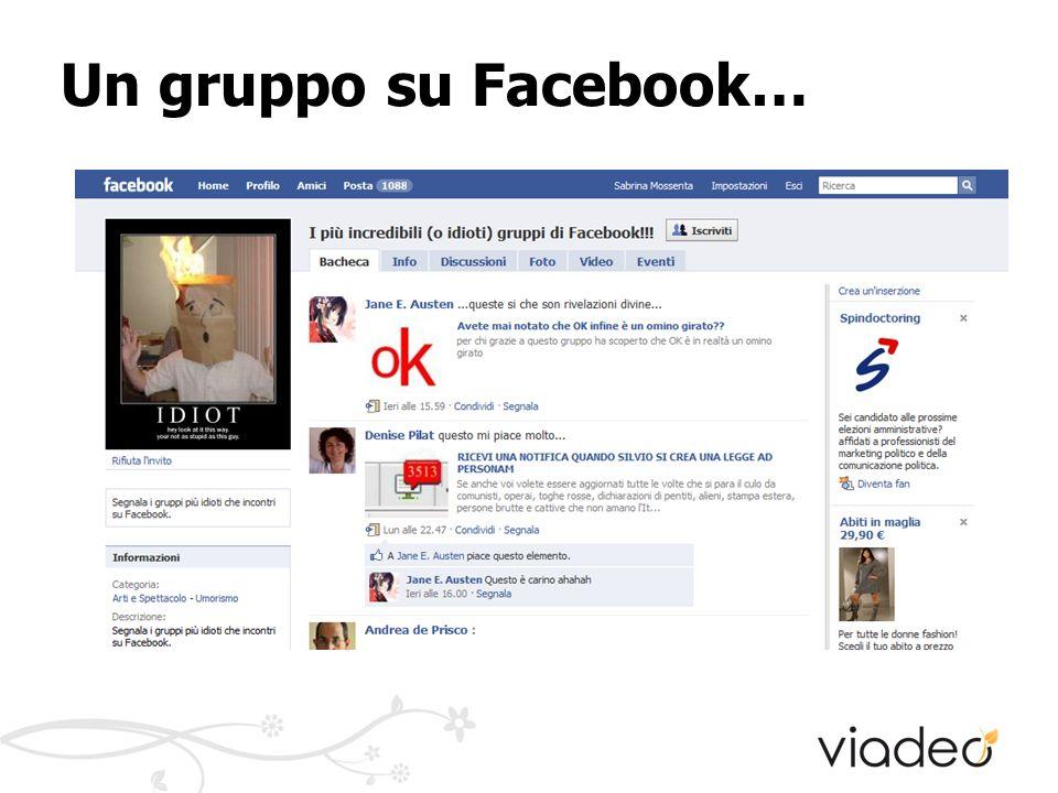 Un gruppo su Facebook…