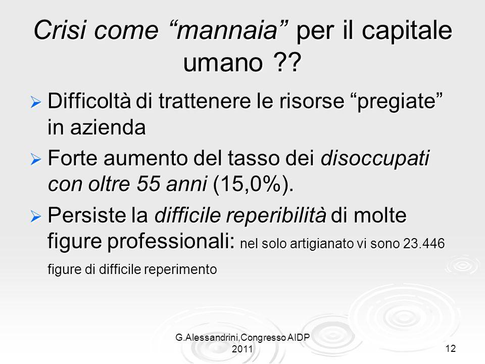 G.Alessandrini,Congresso AIDP 201112 Crisi come mannaia per il capitale umano .