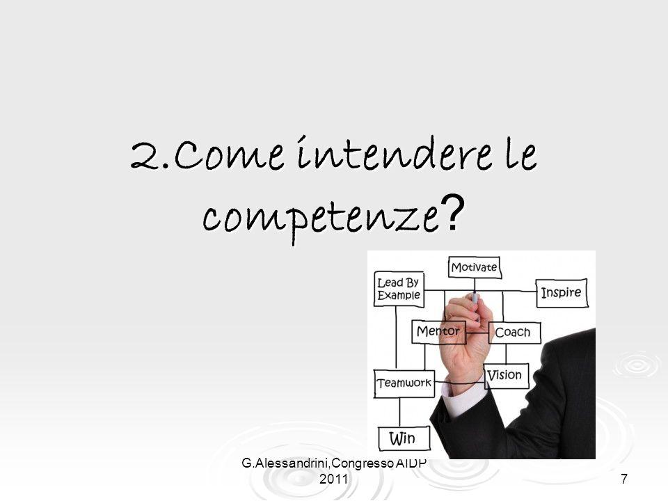 G.Alessandrini,Congresso AIDP 2011 7 2.Come intendere le competenze