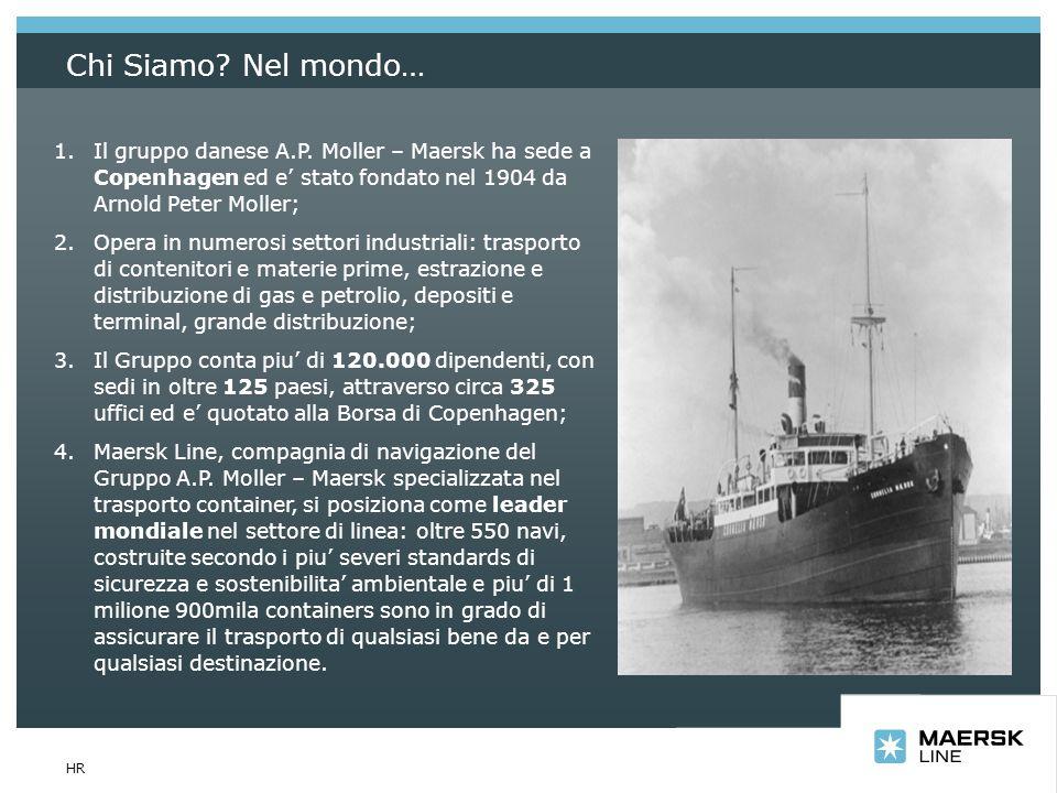 Insert department name via View/Header and Footer… HR Chi Siamo? Nel mondo… 1.Il gruppo danese A.P. Moller – Maersk ha sede a Copenhagen ed e stato fo
