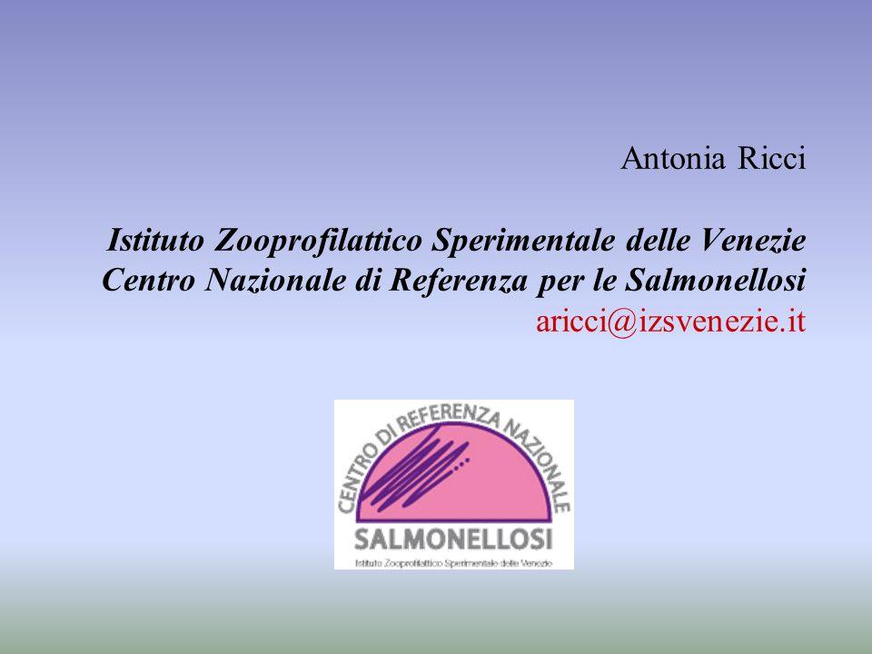 Antonia Ricci Istituto Zooprofilattico Sperimentale delle Venezie Centro Nazionale di Referenza per le Salmonellosi aricci@izsvenezie.it