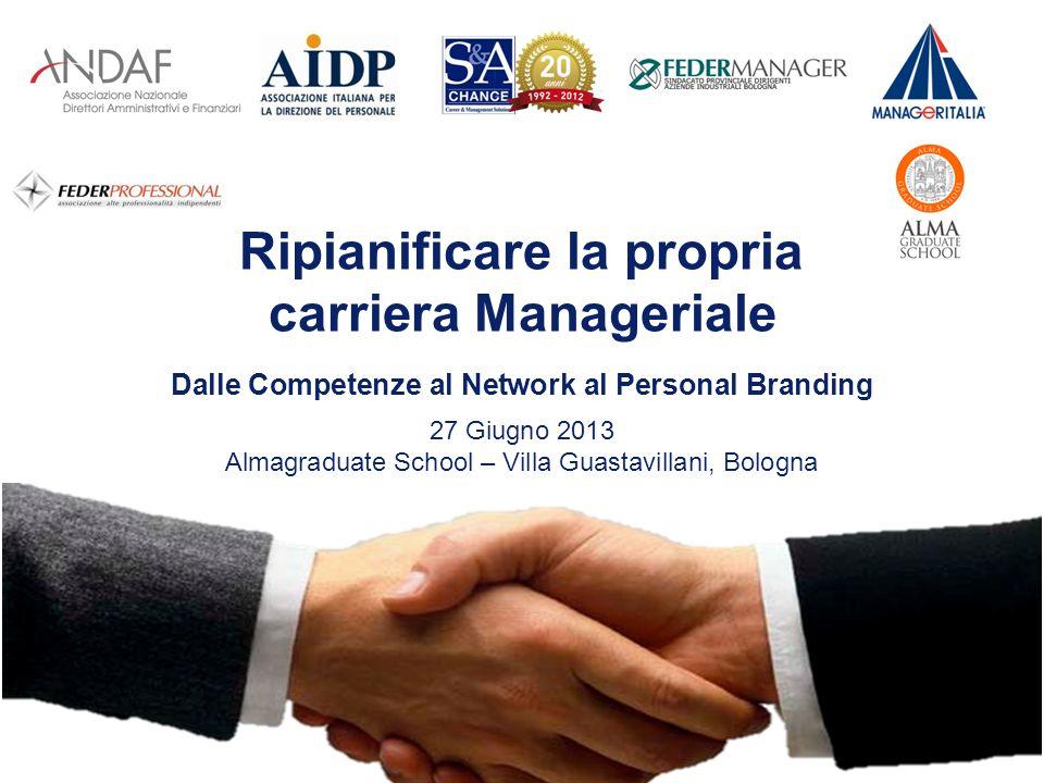 Ripianificare la propria carriera Manageriale 27 Giugno 2013 Almagraduate School – Villa Guastavillani, Bologna Dalle Competenze al Network al Personal Branding