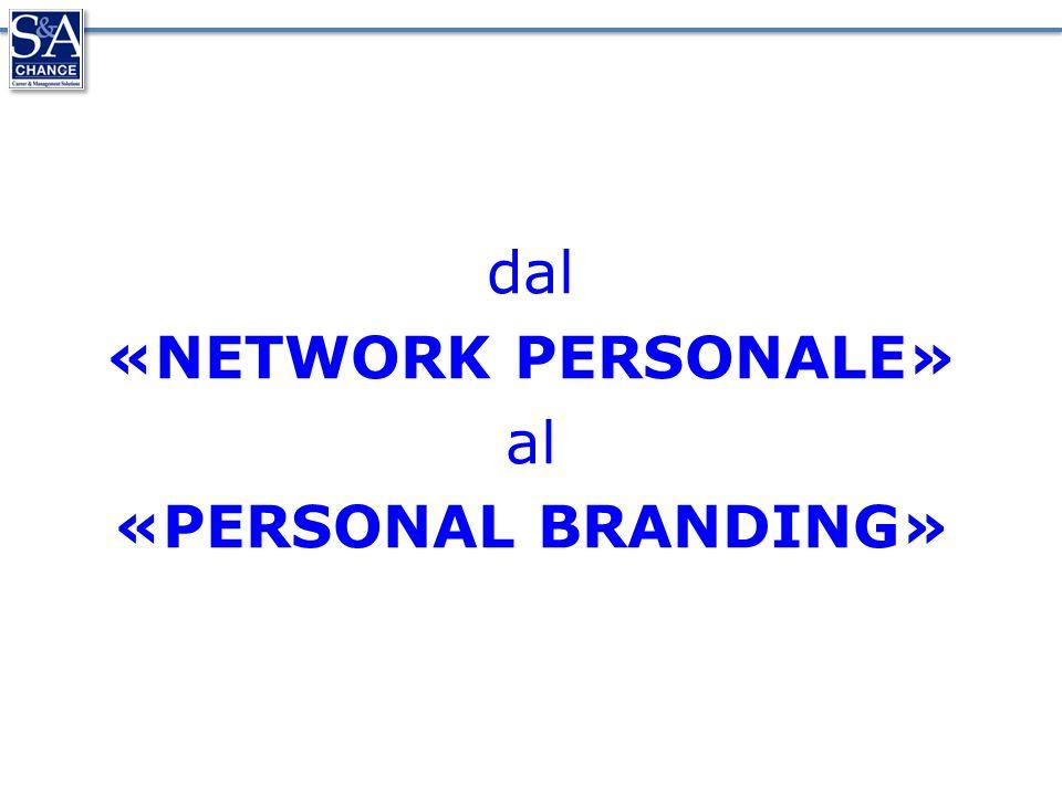 dal «NETWORK PERSONALE» al «PERSONAL BRANDING»