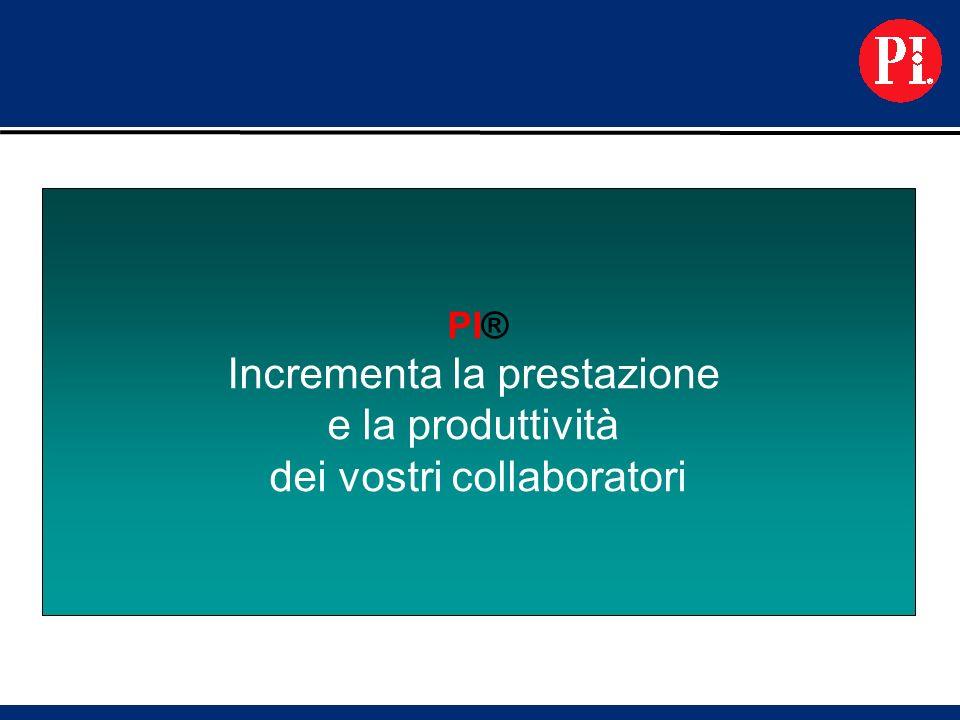 PI® Incrementa la prestazione e la produttività dei vostri collaboratori