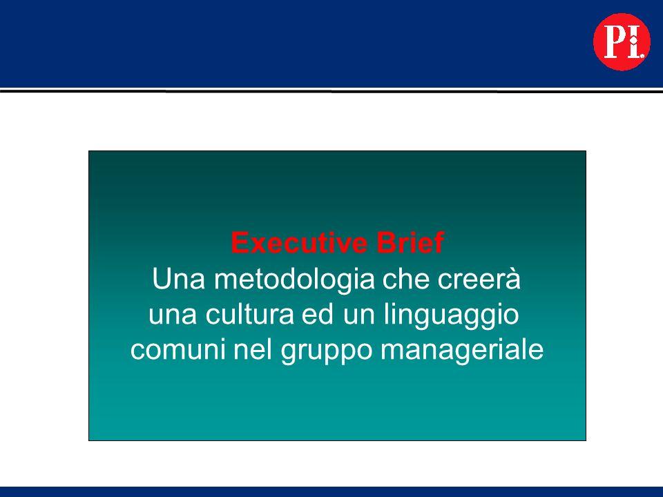 Executive Brief Una metodologia che creerà una cultura ed un linguaggio comuni nel gruppo manageriale