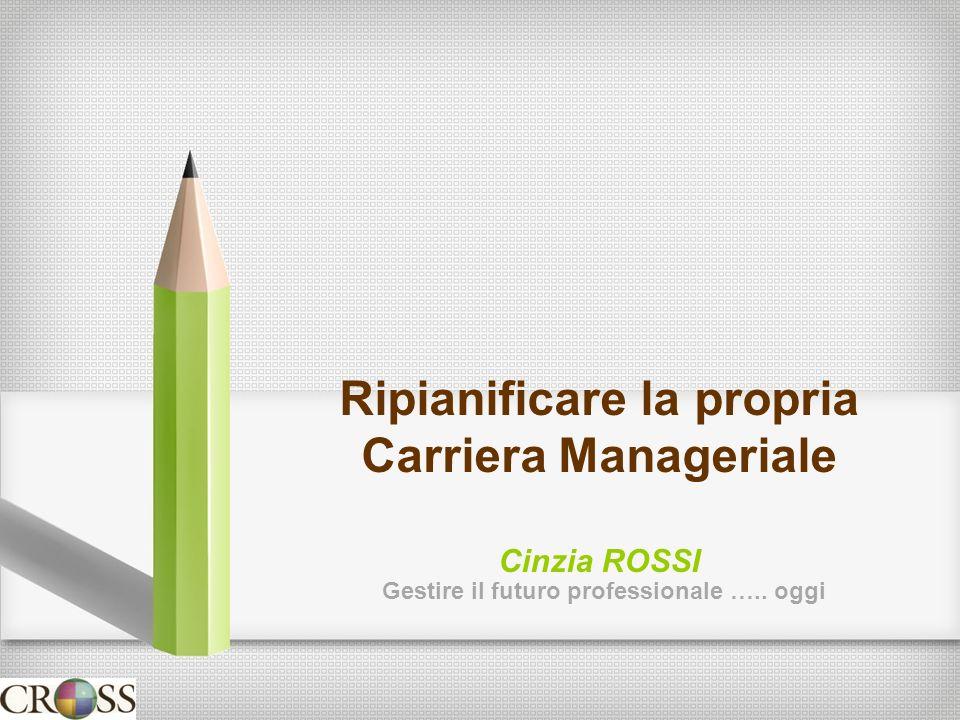 Ripianificare la propria Carriera Manageriale Cinzia ROSSI Gestire il futuro professionale ….. oggi