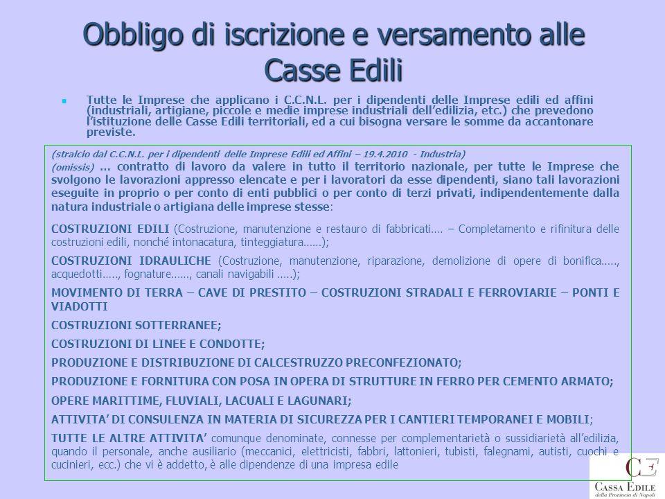 DURC emessi da C.E.prov. Napoli per tipologia Cod.TipoRichiestaD.U.R.C.