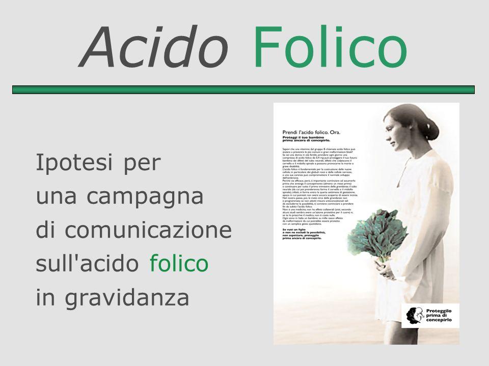 Acido Folico Ipotesi per una campagna di comunicazione sull'acido folico in gravidanza