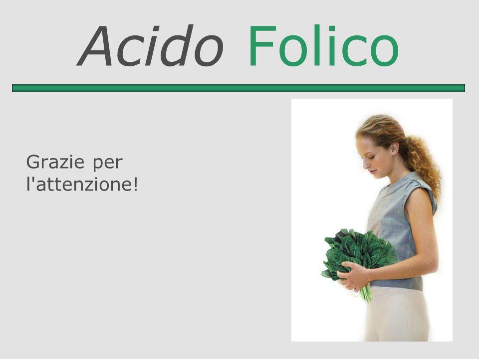Acido Folico Grazie per l'attenzione!