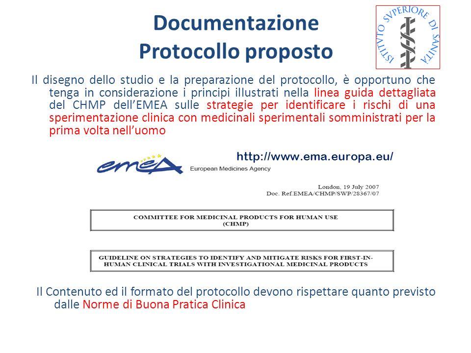 Il disegno dello studio e la preparazione del protocollo, è opportuno che tenga in considerazione i principi illustrati nella linea guida dettagliata