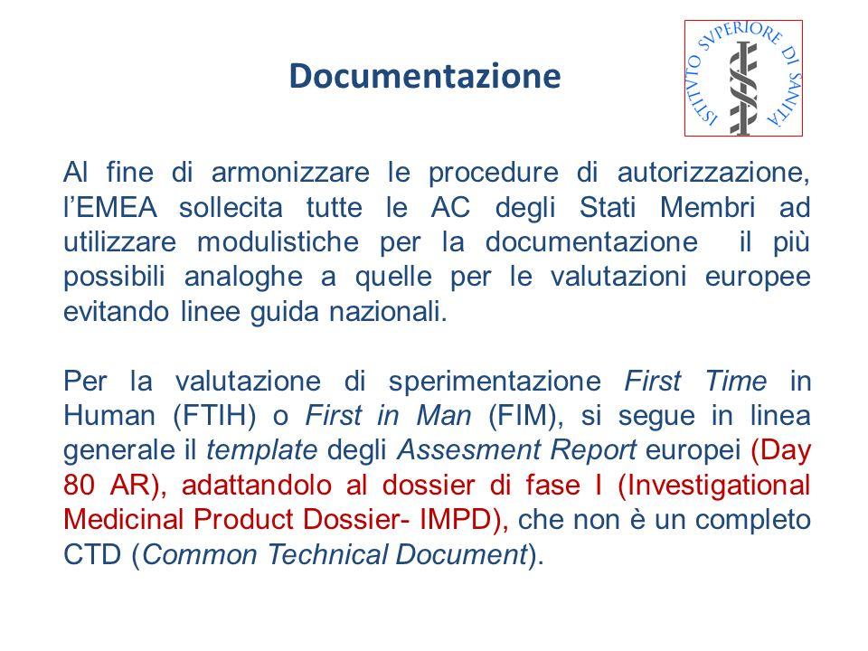 Documentazione Al fine di armonizzare le procedure di autorizzazione, lEMEA sollecita tutte le AC degli Stati Membri ad utilizzare modulistiche per la