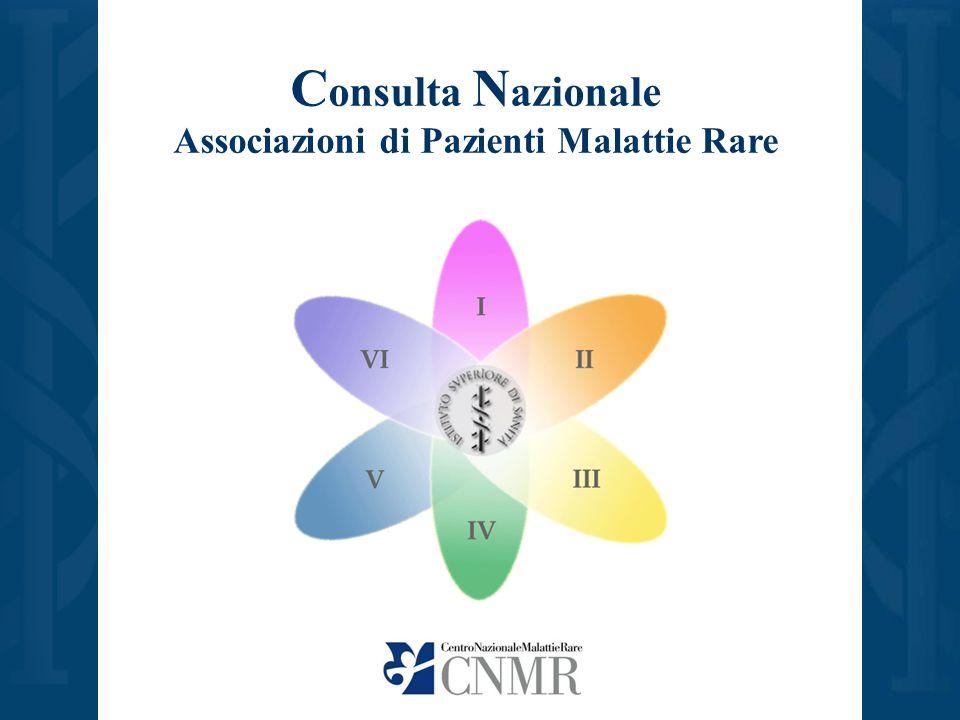 C onsulta N azionale Associazioni di Pazienti Malattie Rare