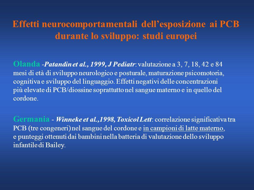 Olanda -Patandin et al., 1999, J Pediatr: valutazione a 3, 7, 18, 42 e 84 mesi di età di sviluppo neurologico e posturale, maturazione psicomotoria, c