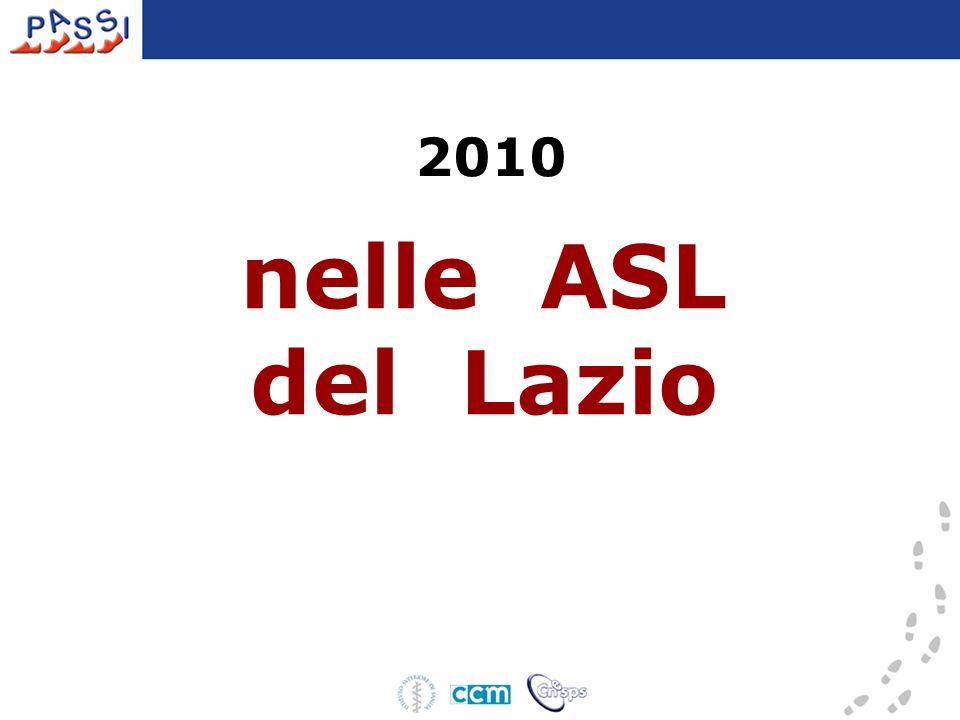 nelle ASL del Lazio 2010