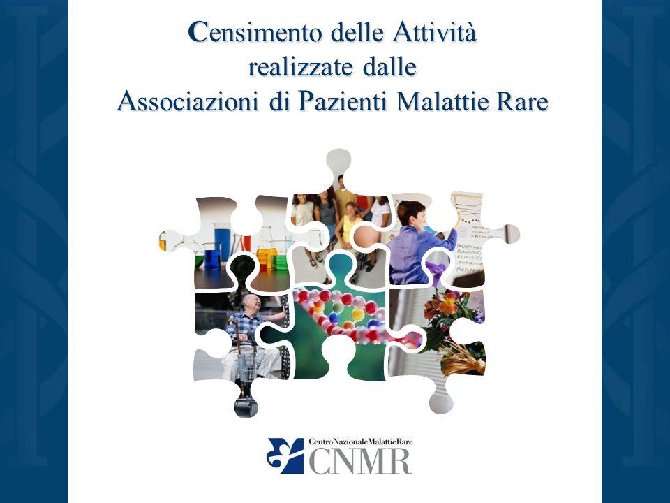 C ensimento delle A ttività realizzate dalle A ssociazioni di P azienti Malattie Rare
