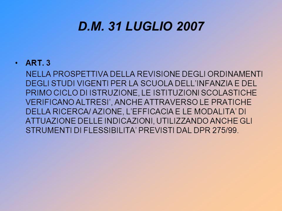 DM 31 LUGLIO 2007 ART.