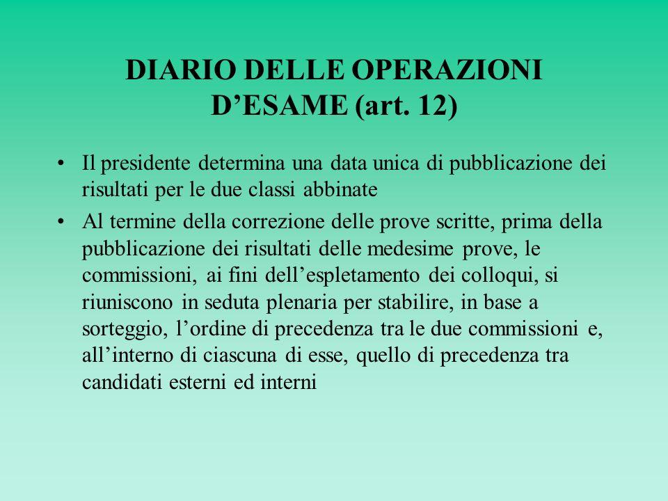 DIARIO DELLE OPERAZIONI DESAME (art.