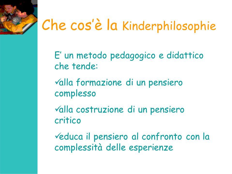 Il procedimento della Kinderphilosophie Ricerca fondata sul dialogo per favorire lesperienza del pensiero attraverso luso del linguaggio (Sociocostruttivismo di Vigotskij)