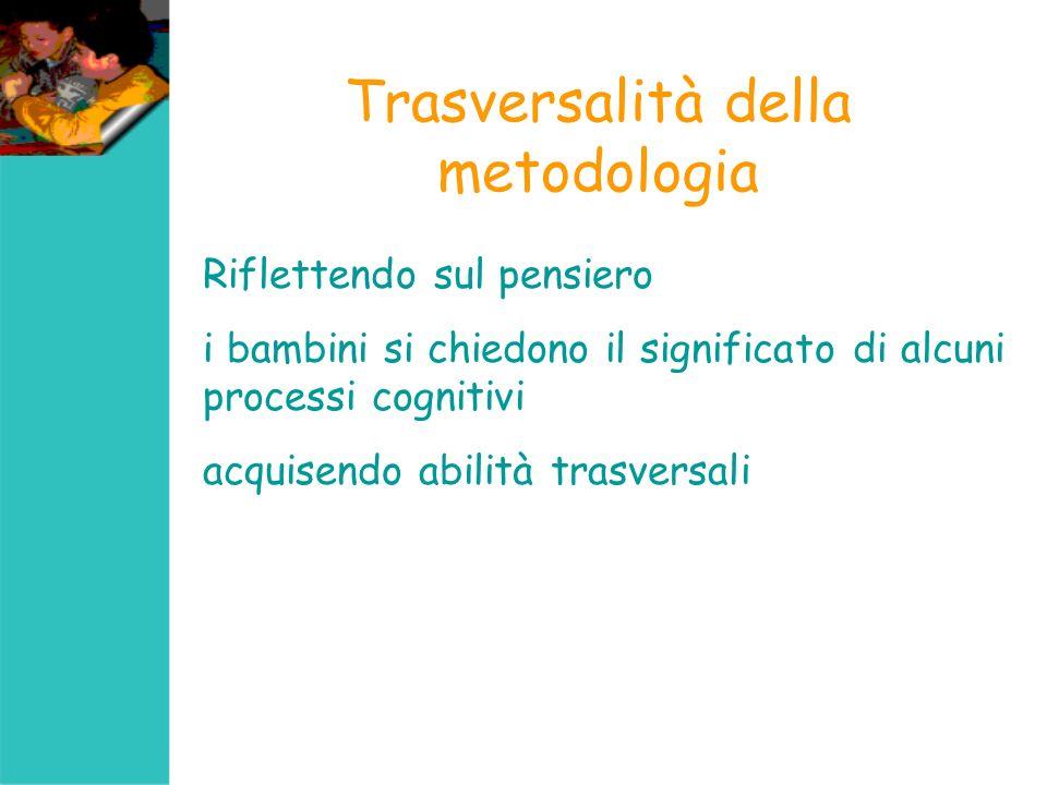 Trasversalità della metodologia nel progetto Il percorso proposto ipotizza il rinforzo delle abilità funzionali che possono riflettersi trasversalmente anche per lacquisizione di una mentalità scientifica.