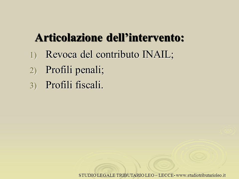 Revoca del contributo INAIL Qualora unimpresa non rispetti le condizioni legate allerogazione del contributo pubblico, essa è tenuta alla restituzione dello stesso.