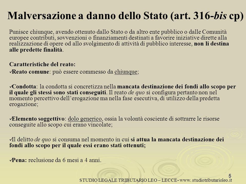 Indebita percezione di erogazioni a danno dello Stato (art.