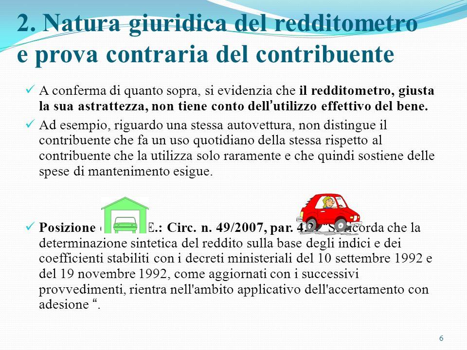 LUfficio può utilizzare elementi e circostanze di fatto indicativi di capacità contributiva diversi da quelli contenuti nel redditometro (art.