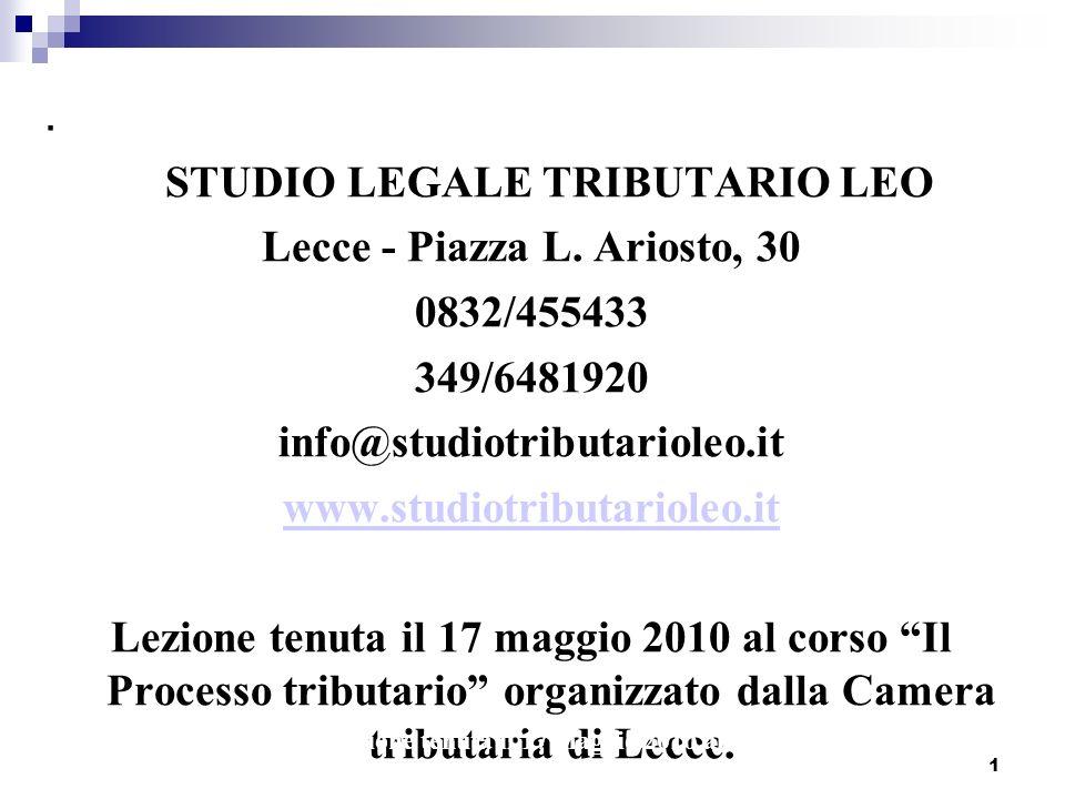 1.STUDIO LEGALE TRIBUTARIO LEO Lecce - Piazza L.