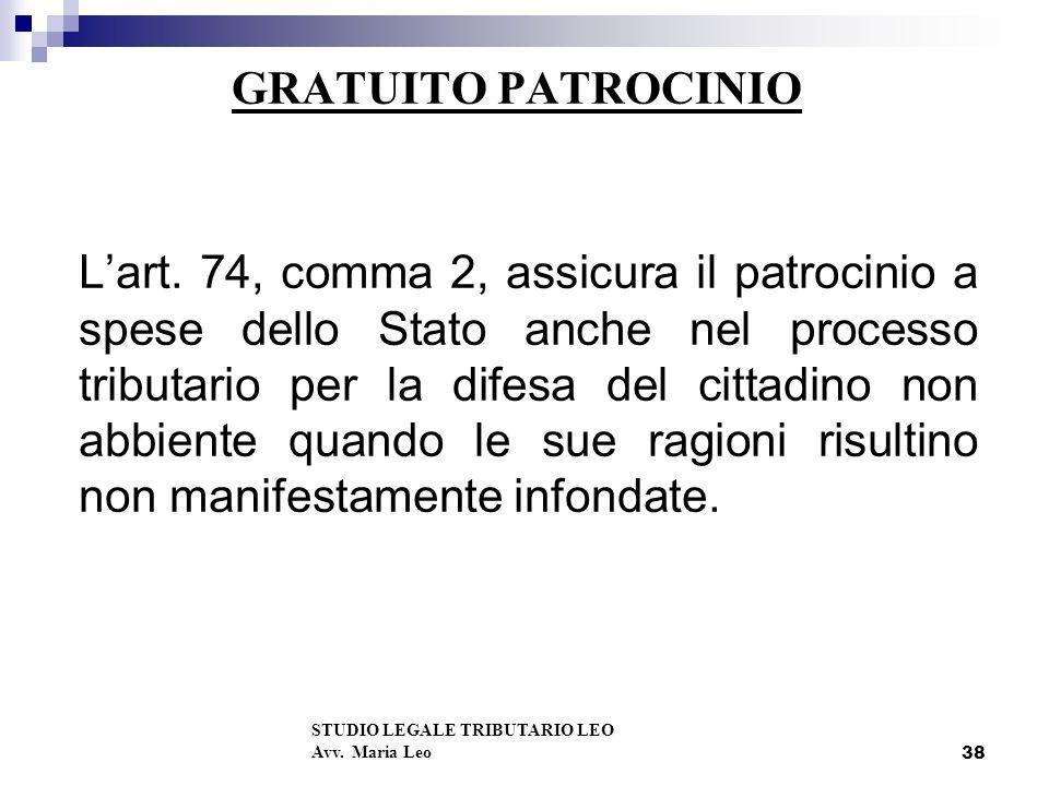 38 GRATUITO PATROCINIO Lart.