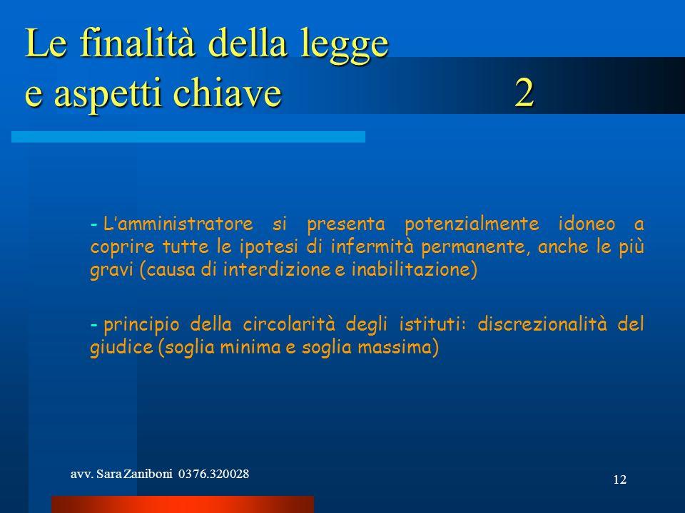 avv. Sara Zaniboni 0376.320028 12 Le finalità della legge e aspetti chiave 2 - Lamministratore si presenta potenzialmente idoneo a coprire tutte le ip