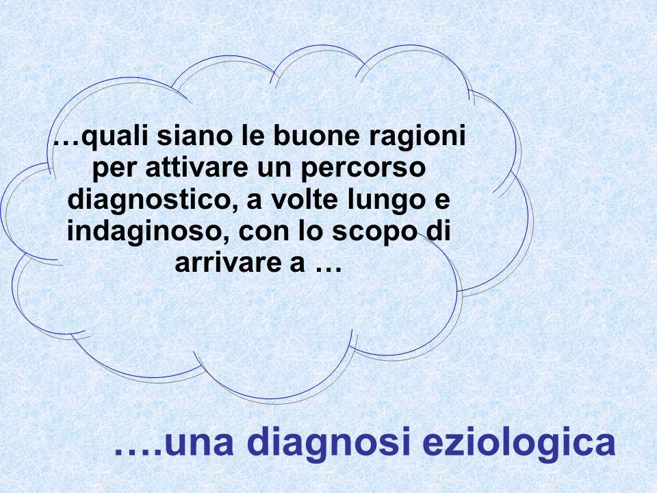 ….una diagnosi eziologica …quali siano le buone ragioni per attivare un percorso diagnostico, a volte lungo e indaginoso, con lo scopo di arrivare a …