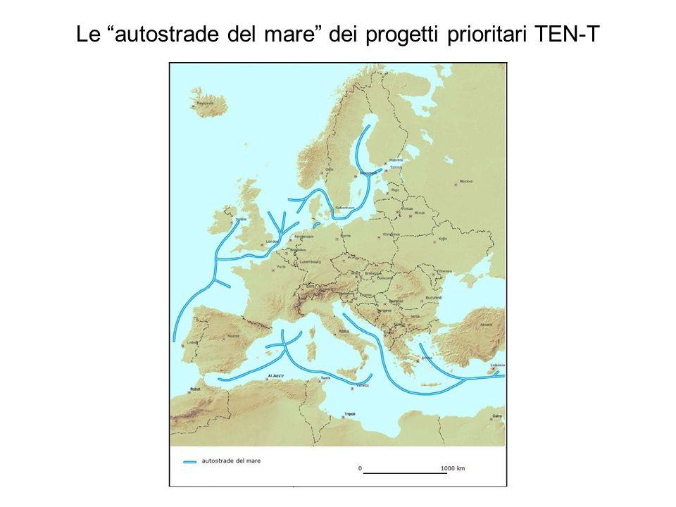 Le autostrade del mare dei progetti prioritari TEN-T