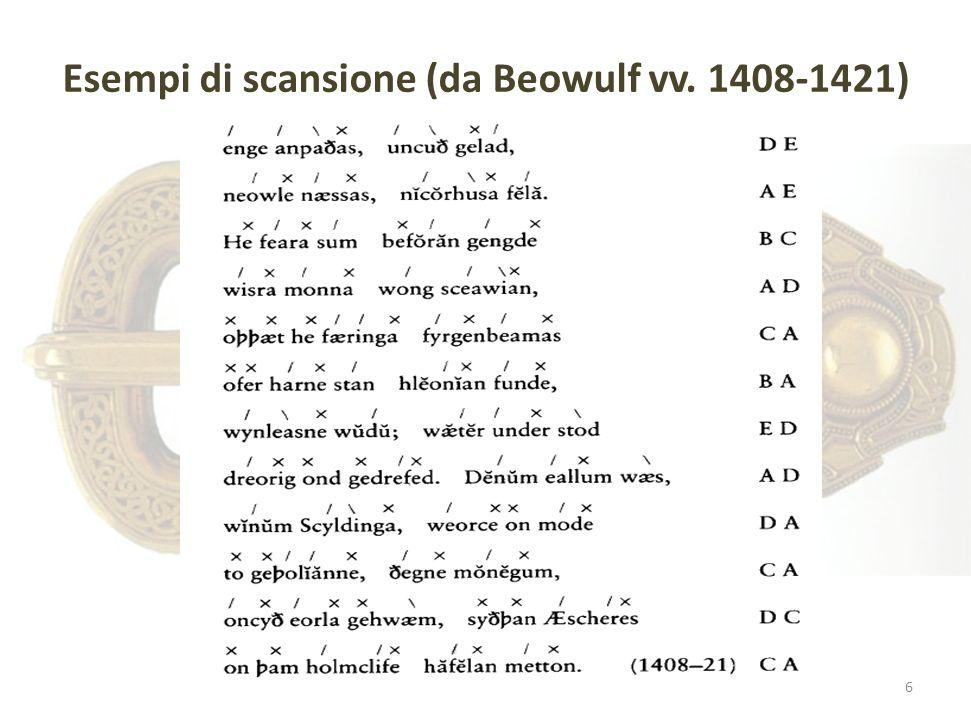 Esempi di scansione (da Beowulf vv. 1408-1421) 6