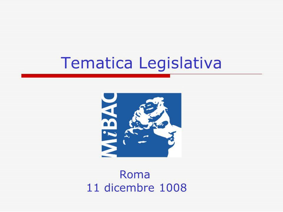 Tematica Legislativa Roma 11 dicembre 1008