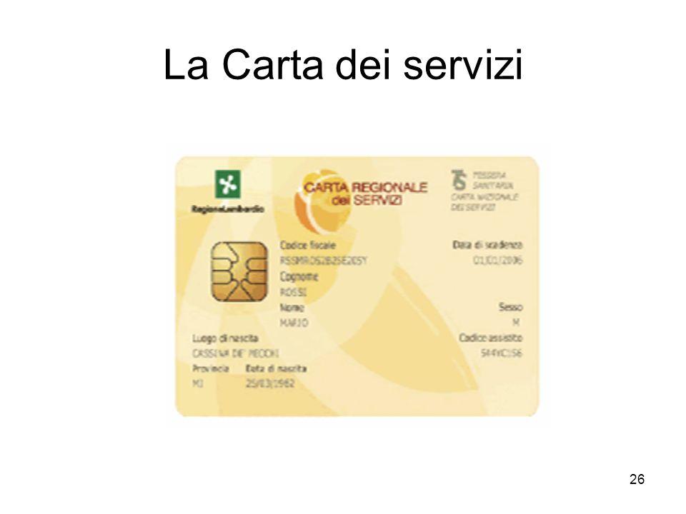 26 La Carta dei servizi