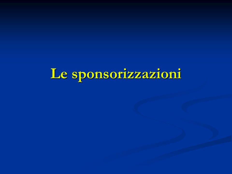 Le sponsorizzazioni
