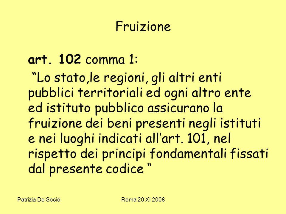 Patrizia De SocioRoma 20 XI 2008 Fruizione art.