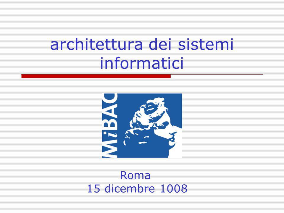 architettura dei sistemi informatici Roma 15 dicembre 1008